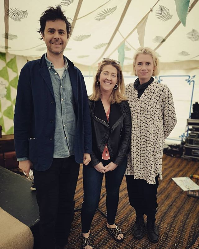 West Cork peeps, Jennifer Forde and Sam Bungey and me. @writingandideas