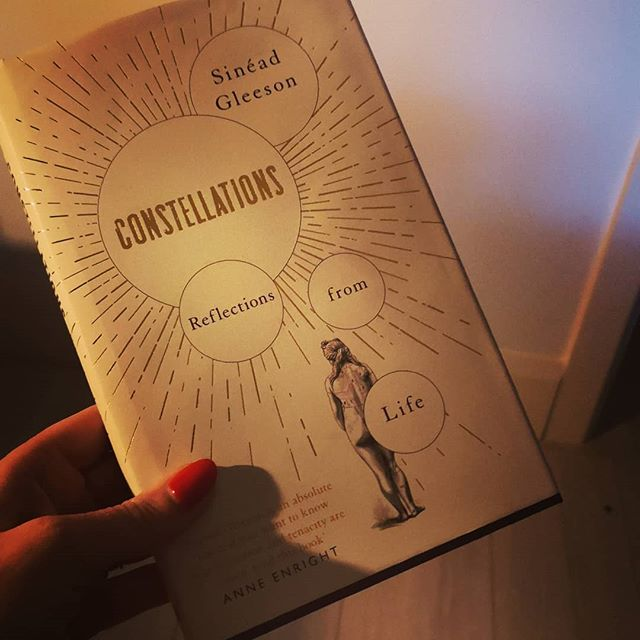 "Constellations by Sinéad Gleeson is a collection of essays about the body, sickness, strength, art and millions more! I found it an intriguing and clear read. The amount of pain and illness Sinéad has gone through is way beyond what anyone should have to put up with and I certainly wouldn't be as humorous and practical minded as she has been.  The essay ""The wound gives off its own light"" was perfection in terms of its account of Frida Kahlo and her art. I was so inspired, I've began to develop a series of lessons for my new 5th class in autumn based on Frida's art and life; hers being an influential woman in history and creativity. I can recommend this book of essays. P. S. The endpapers are just gorgeous. Not that I'd ever buy a book for the endpapers. Just saying. @sineadgleeson"